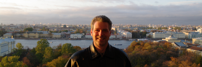 Marc Croteau in St-Petersburg, Russia, in 2008